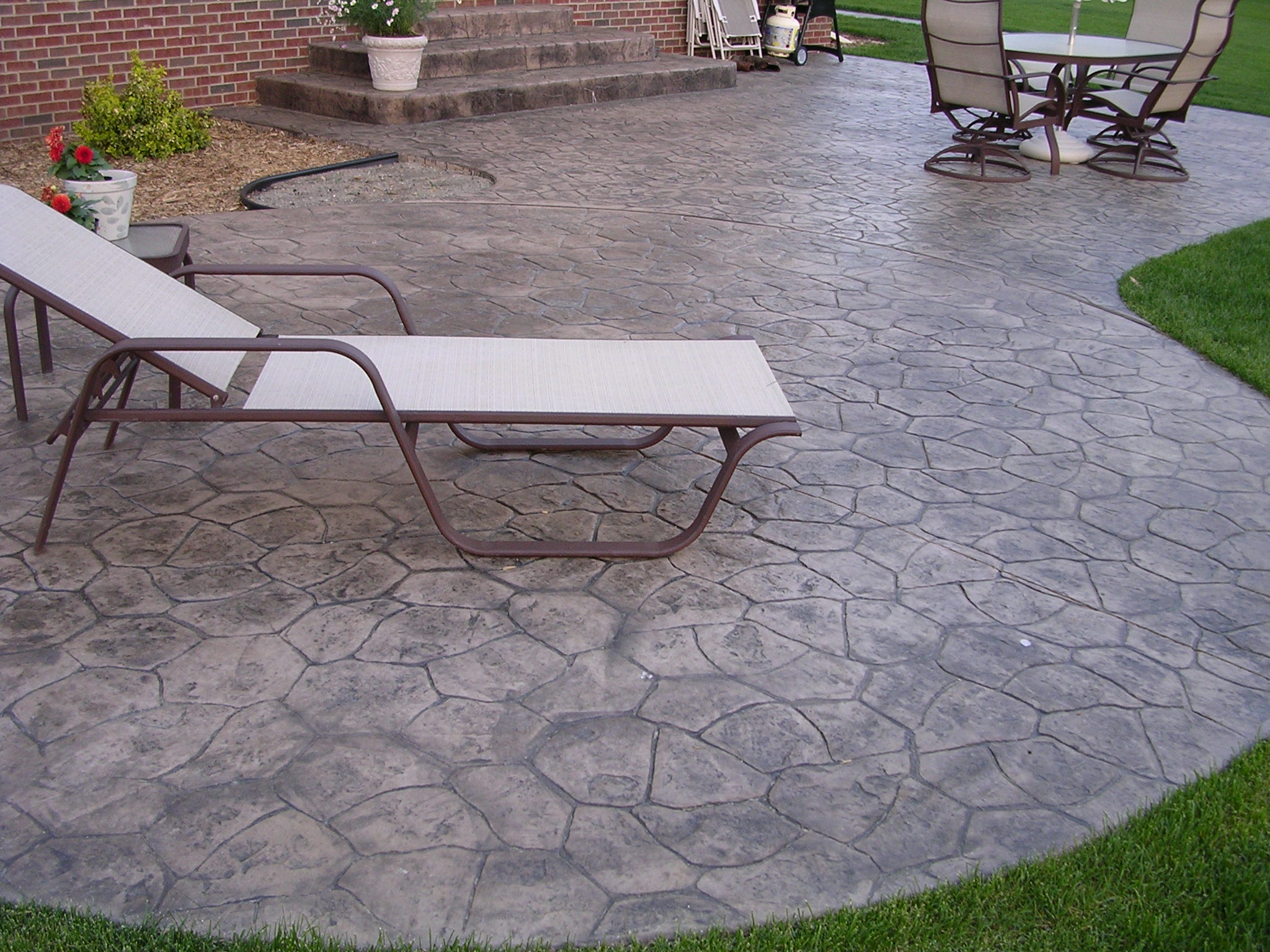 Custom Random Stone Stamped Patio