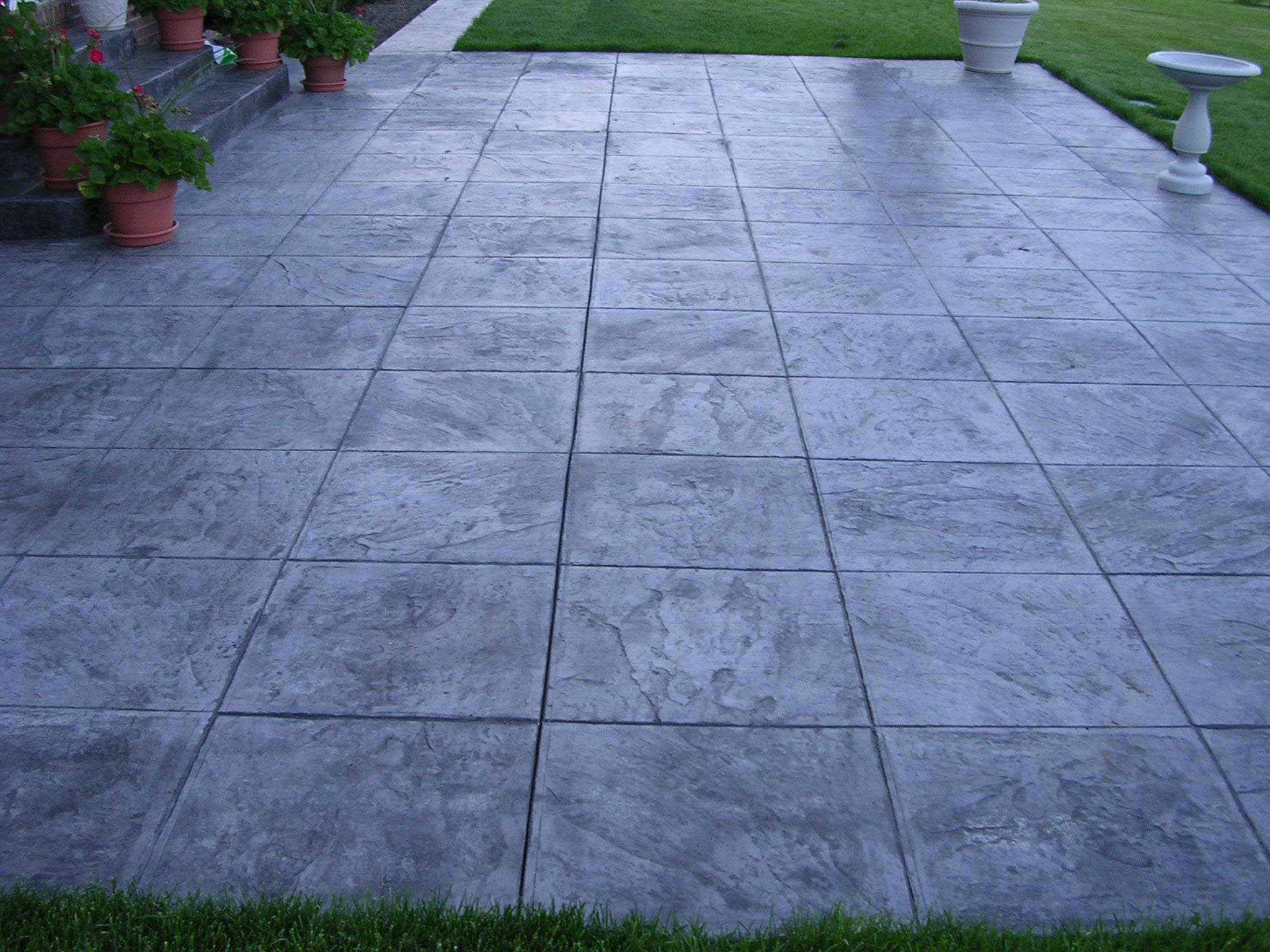 2x2 Slate Stamp Patio