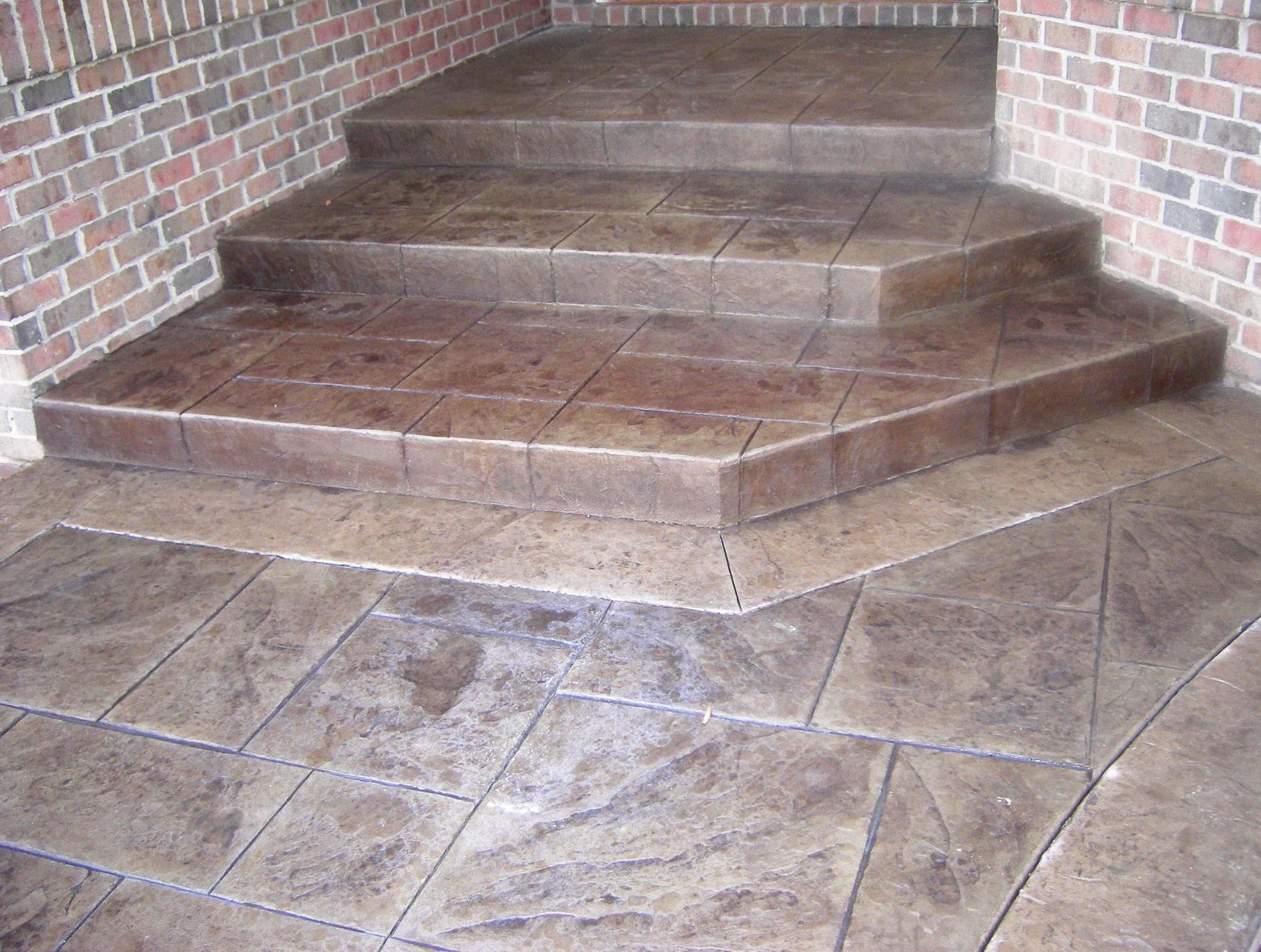 Slate Stamp Steps with Border